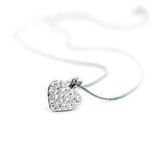 Magnetic Necklace-Heart Silver