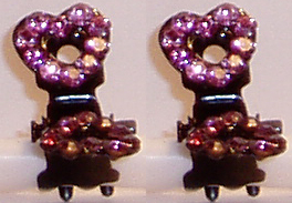 Heart Mini Crystal Claw Clips. Available in in Amethyst, Aqua, Blue, Crystal, Fuchsia, Iridescent, Pink, and Ruby